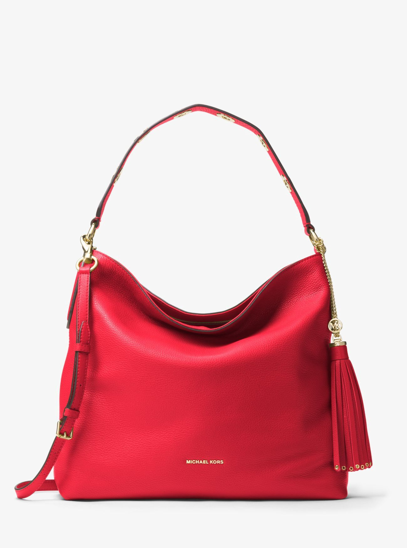 3ee170550f2d MICHAEL KORS Brooklyn Large Leather Shoulder Bag.  michaelkors  bags  shoulder  bags  hand bags  polyester  leather  lining