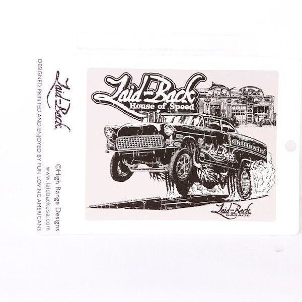 Laid Back Gasser Sticker Stickers Car Posters Drag Racing