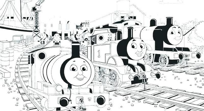 Thomas The Train Coloring Pages Ideas