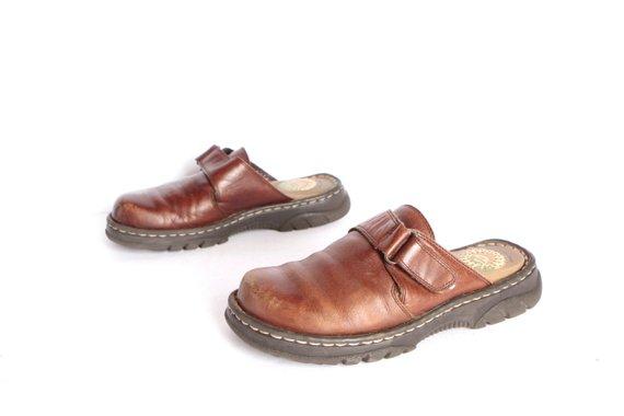 5c5ebfd18a9df vintage SLIDES Dr. Marten STYLE Earth Shoe size 6 women's brown ...