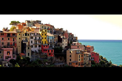 Corniglia, Cinque Terre, Italy (see that orangish building closest to the water? that was my apartment whilst there)