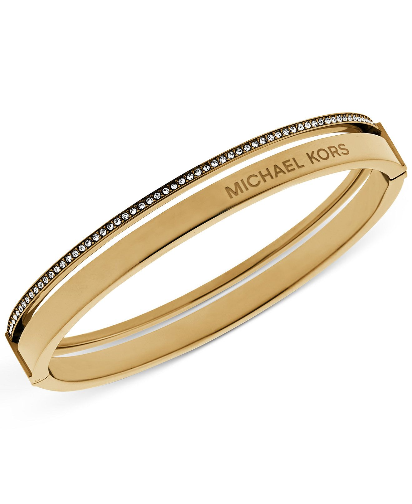 Michael Kors Crystal Split Bangle Bracelet - Michael Kors ...