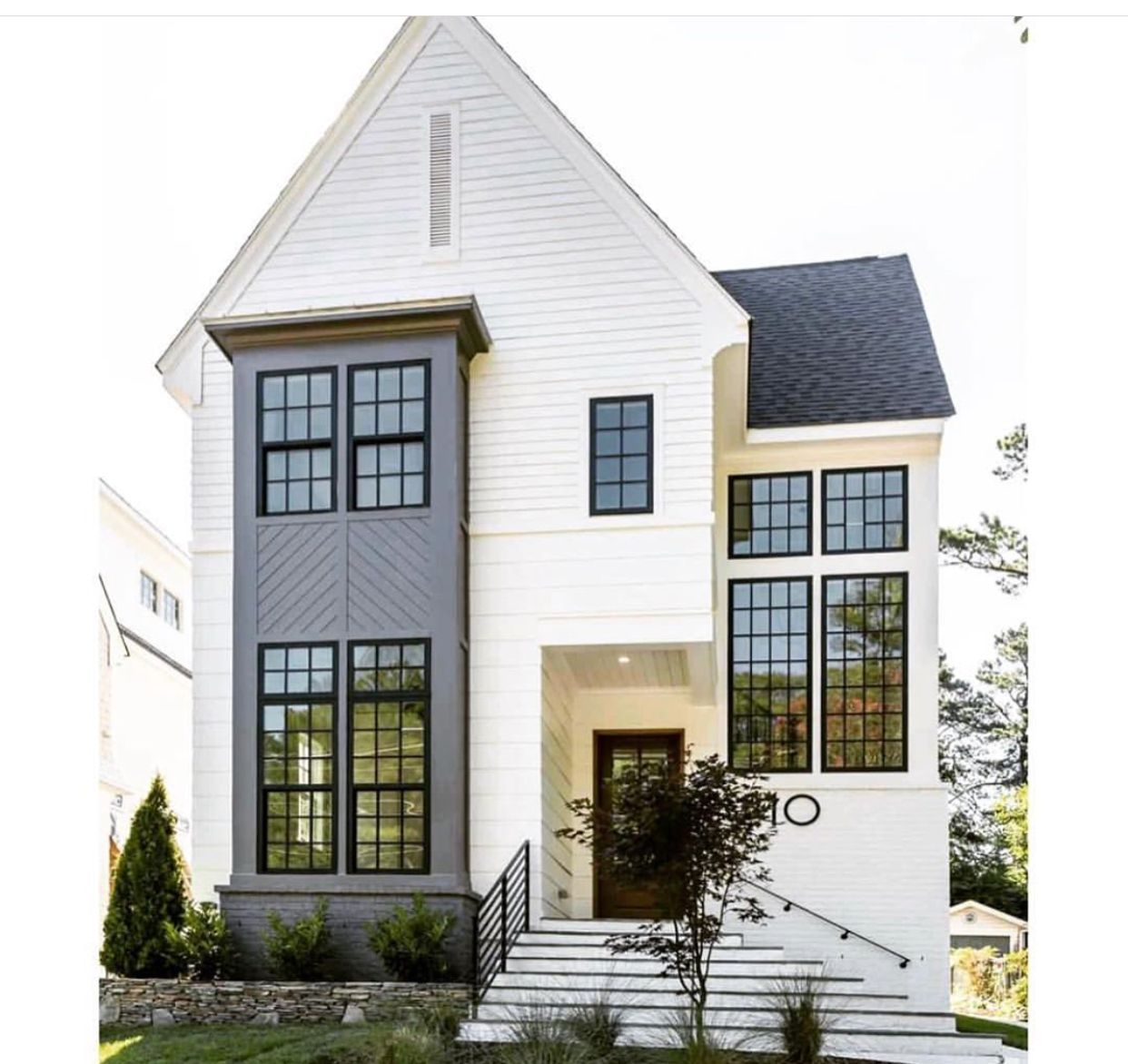 Frazier Home Designs White Charcoal Black