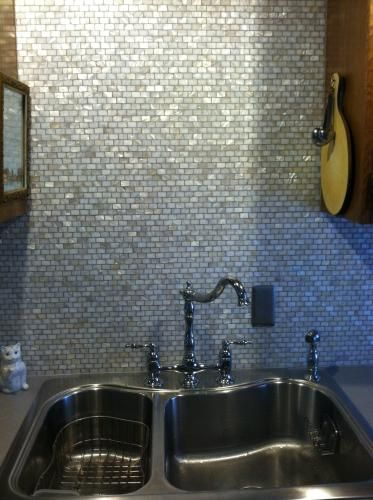 merola tile conchella subway white 11 34 in x 11 34 in x 2 mm natural seashell mosaic tile - Backsplash Tile Home Depot 2