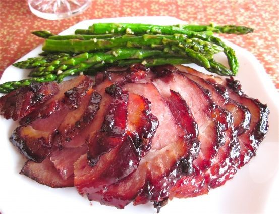 Rasberry Chipolte Ham. Easter, I think. #untraditional easter dinner Raspberry Chipotle Glazed Ham