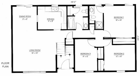 Raised ranch house plans for comfort live interior for Raised ranch floor plan