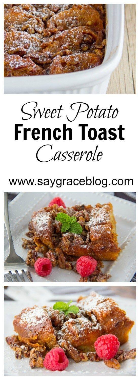 Photo of Sweet Potato French Toast Casserole | Say Grace