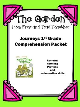 """Use+this+packet+to+review+the+story+""""The+Garden""""+from+Frog+and+Toad+Forever.++The+14+pages+cover+the+following:+1.+Title+Page2.+Story+information+such+as+title,+author,+characters,+setting,+and+author's+purpose.3.+Find+the+page+number.++Students+are+given+a+quote+from+the+story+and+they+must+search+the+story+and+write+the+page+it+is+found.4."""