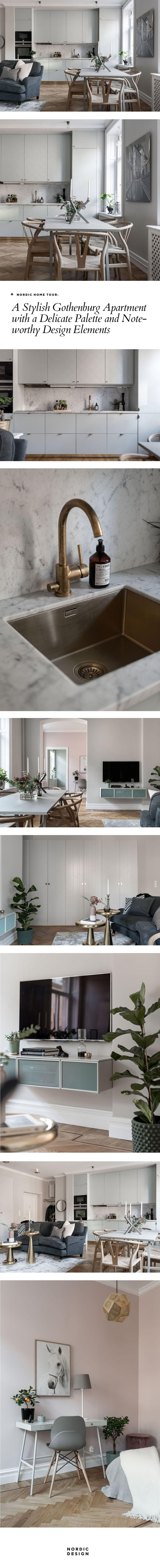 Nordic home tour: A stylish Gothenburg apartment with a delicate palette | NORDIC DESIGN