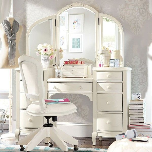 PB Teen Lilac Vanity, Vintage Simply White at Pottery Barn Teen