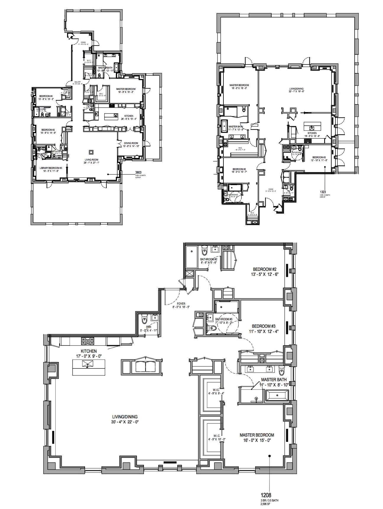 Revealed Here Are The Waldorf Astoria S Condo Floor Plans Condo Floor Plans Floor Plans Nyc Condo