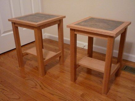 Tile Top End Tables Leftover Table