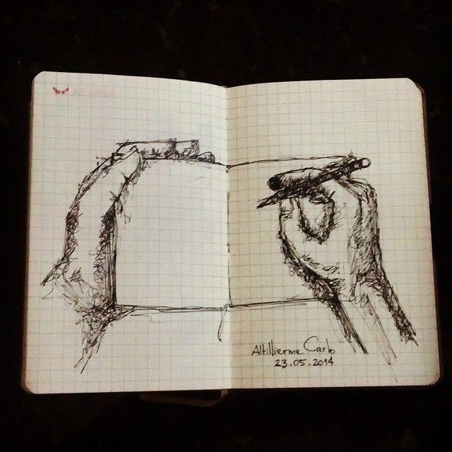 No ônibus, Do ônibus para o Sketchbook • Desenho: 2014  #desenhosdoalti #sketch #sketchbook #observação #ilustration #Nankin #art #hand #instaart #artworks #arte #mymoleskine