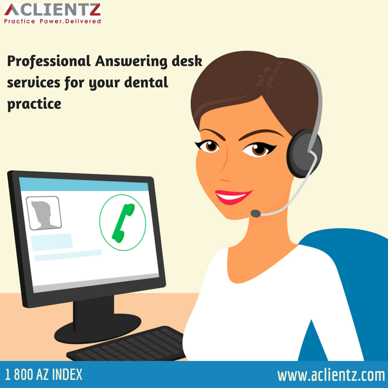 Professional Answering desk services for your dental practice.  ‪#‎VirtualDentalReceptionist‬