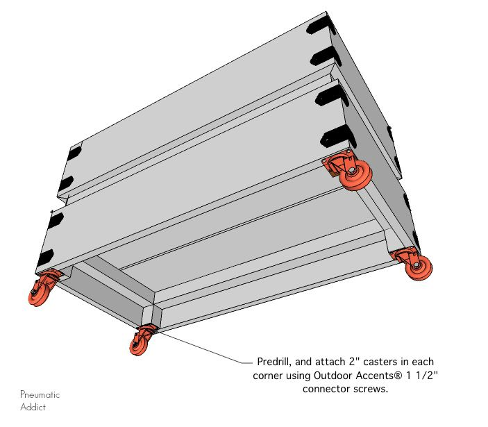 Diy How To Build A Simple Rolling Planter In 2020 640 x 480