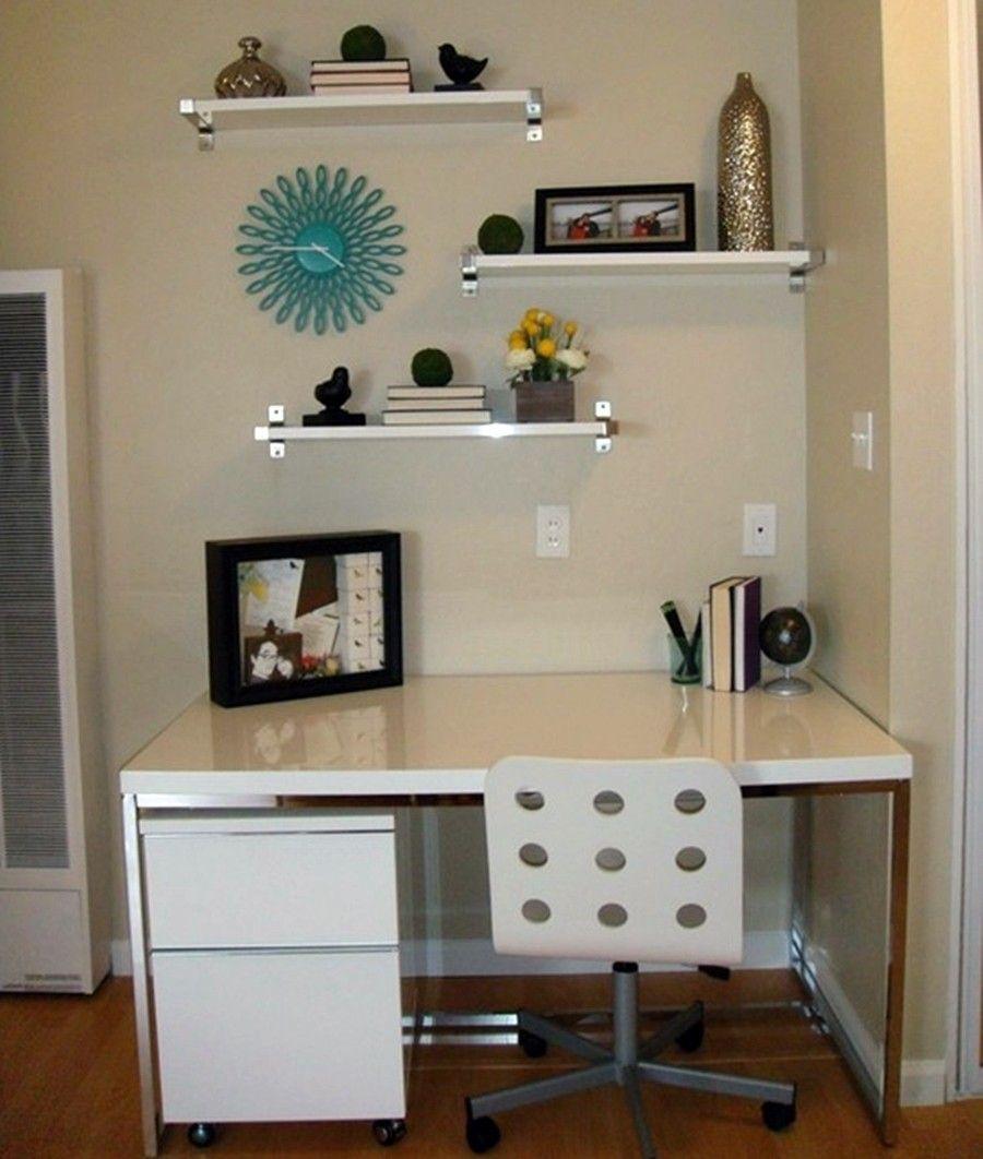 Home Office Pequeno 21 Brilhantes Dicas 50 Fotos Brilhos  ~ Quarto De Hospede E Escritorio No Mesmo Ambiente