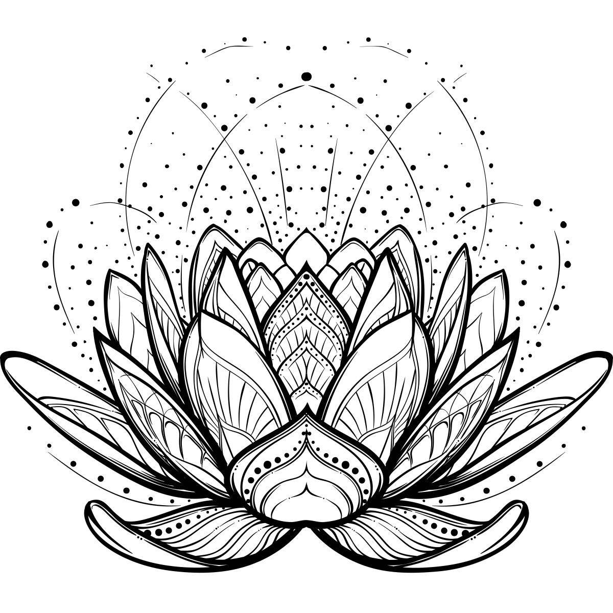лотос цветок рисунок тату отмечается