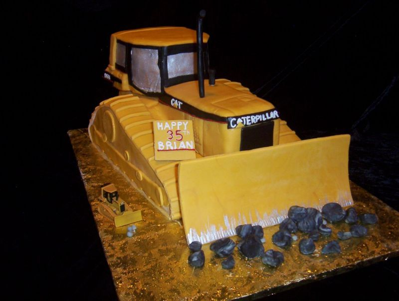 Bulldozer Cake Ptb 2nd Construction Bday Party Pinterest Cake