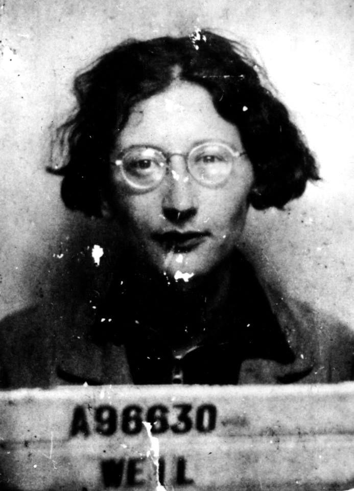 Simone Weil Retrato Escritores Filosofos