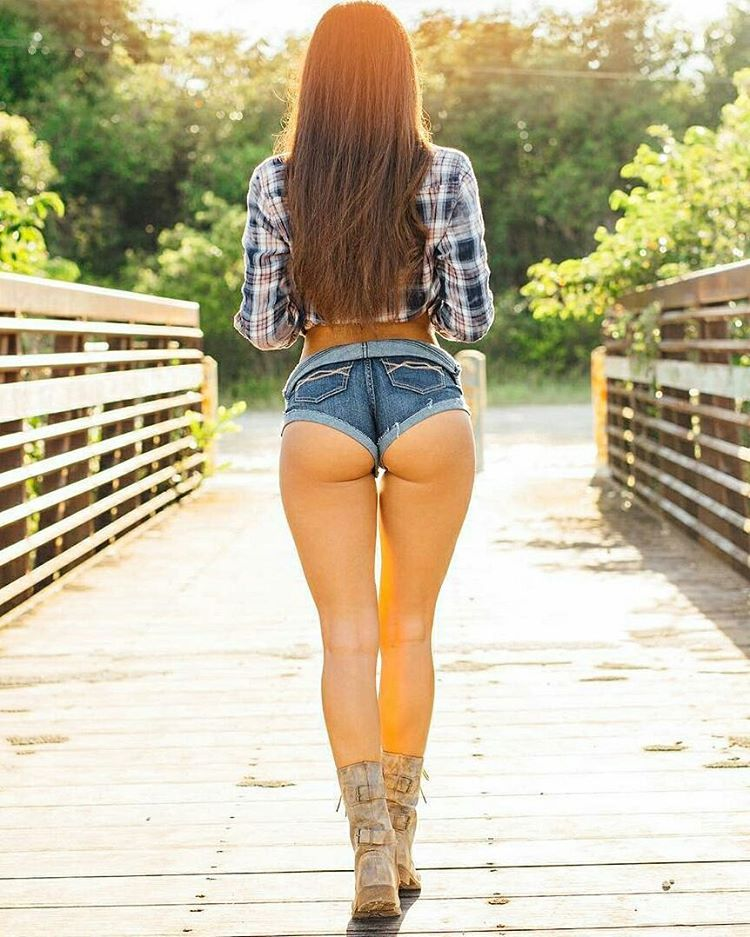 Sexy girl in booty shorts