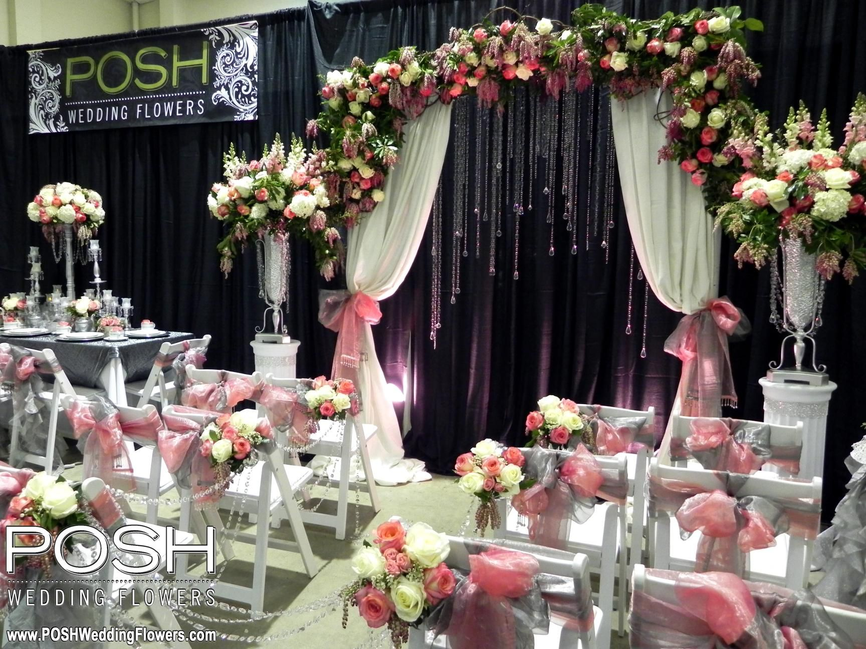 Posh Wedding Flowers Booth At The Spring Tacoma Expo