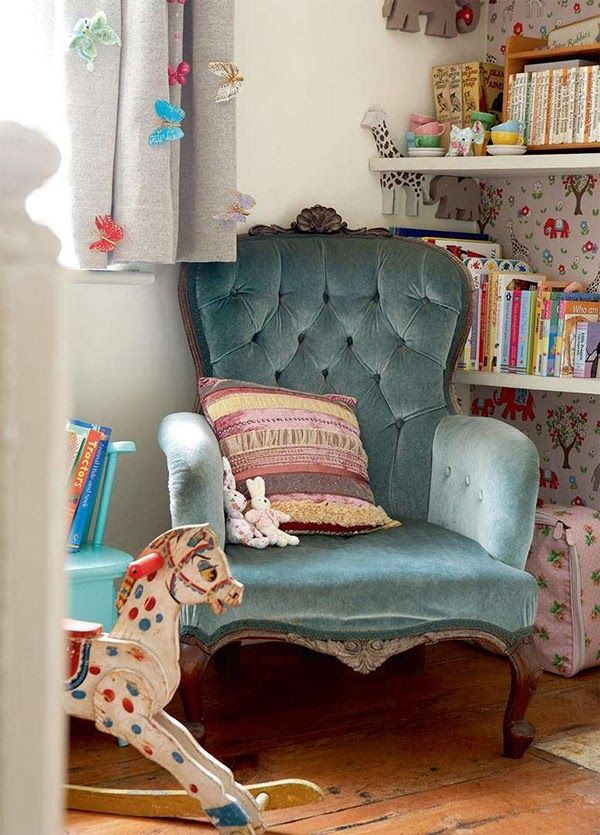I Love This Vintage Chair In The Nursery Cottage Renovation Home Room Inspiration