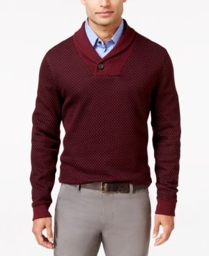 Tasso Elba Men's Shawl Collar Sweater, Only at Macy's - Purple L ...