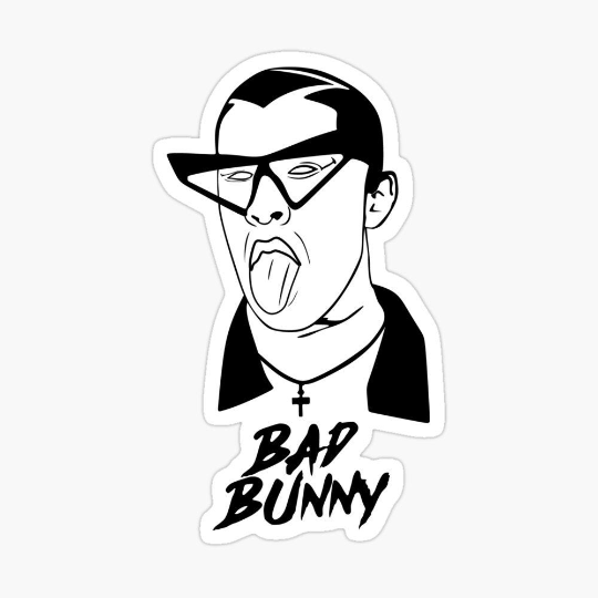 16++ Bad bunny clipart black and white info
