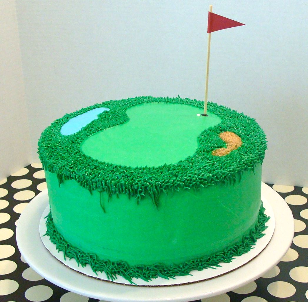 Golf Themed Cake2nd cake idea or top of main cake glorious