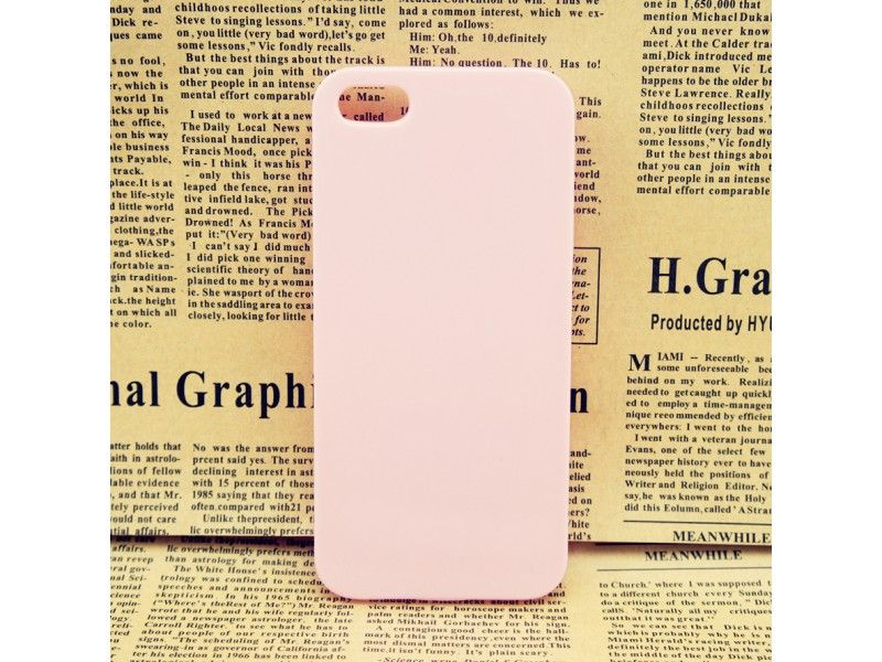Clear Hard Baby Pink Case Cover For iPhone 5/5S