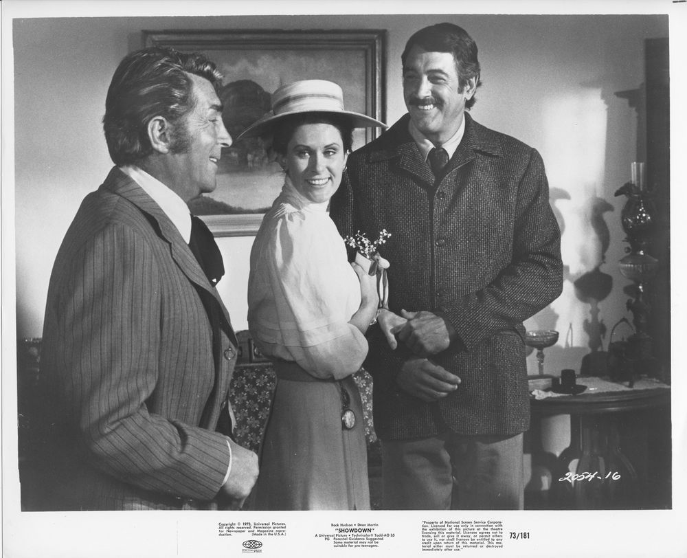 SHOWDOWN original 1973 lobby still photo DEAN MARTIN/ROCK HUDSON/SUSAN CLARK #Photos