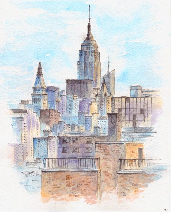 Cityscape Painting. New York Painting. New York City. By