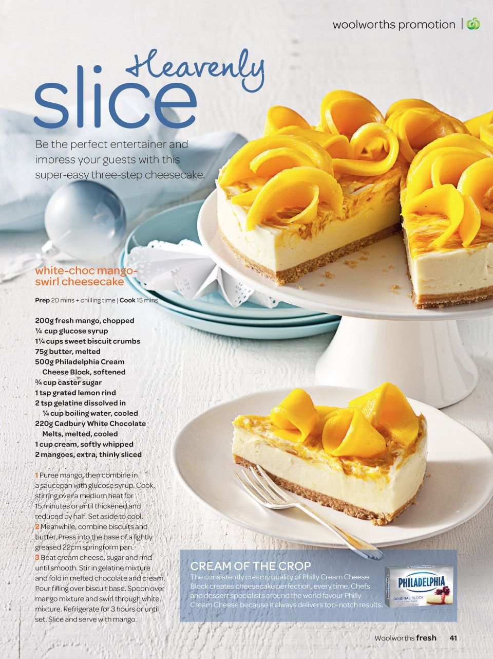 Fresh Magazine Woolworths Grocery Foods Mango Cheesecake Cooking Prep