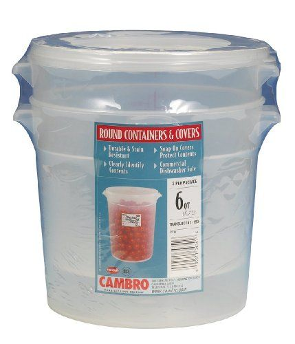 Cambro Rfs6ppsw2190 6 Quart Round Food Storage Container With Lid Set Of 2 Food Storage Containers Cambro Food Storage