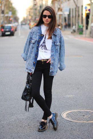 6e40e75b8e Women s Light Blue Embellished Denim Jacket