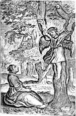 Pitts Theology Library Digital Image Archive: Angel on Tree