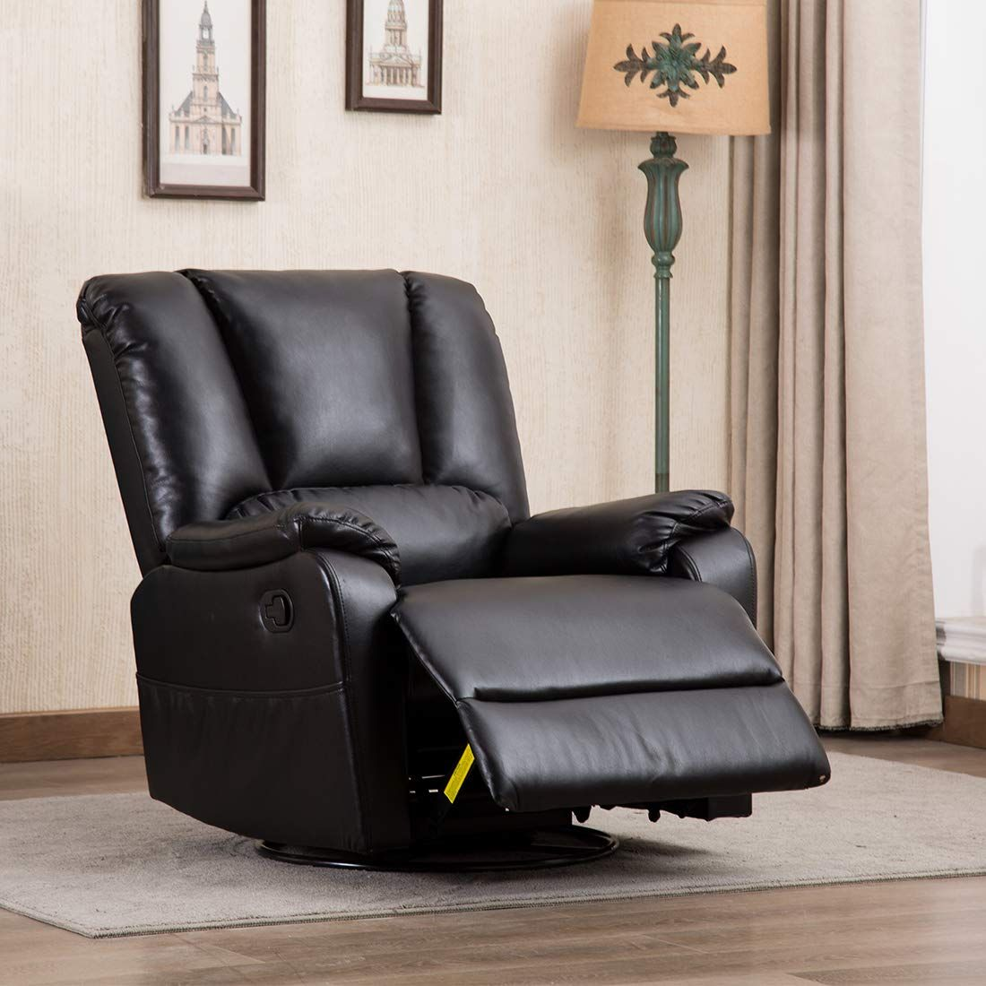 CANMOV Contemporary Breathable Bonded Leather Swivel