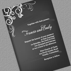 Chalkboard Invitation Template Free Wedding Templates Invitations Printable