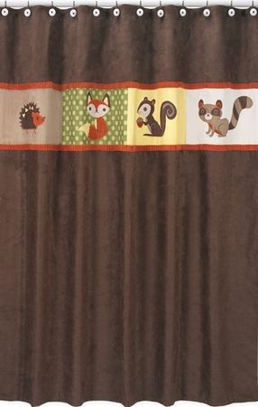 Forest Friends Woodland Animals Shower Curtain By Sweet Jojo Designs