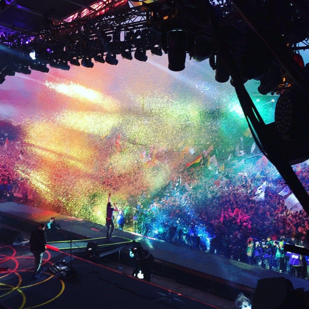 Coldplay, Glastonbury, June 2016 …