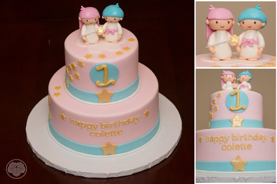 Old School Little Twin Stars Cake Kiki And Lala