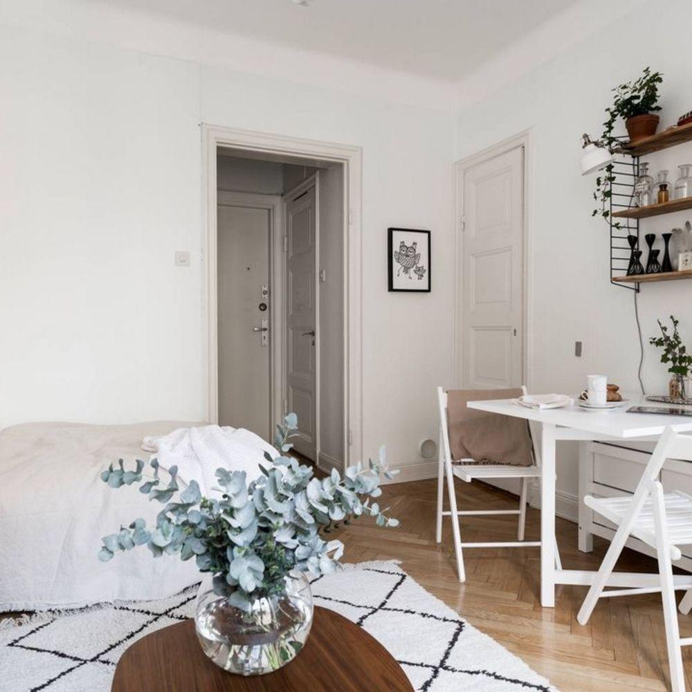 Salle à manger studio : aménager coin repas dans petit espace | Petite salle à manger ...