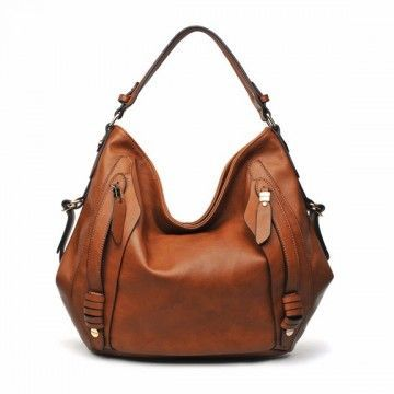 715c2ebc4fc0 URBAN EXPRESSIONS HIGHLAND Handbag in Cognac Faux Leather ...