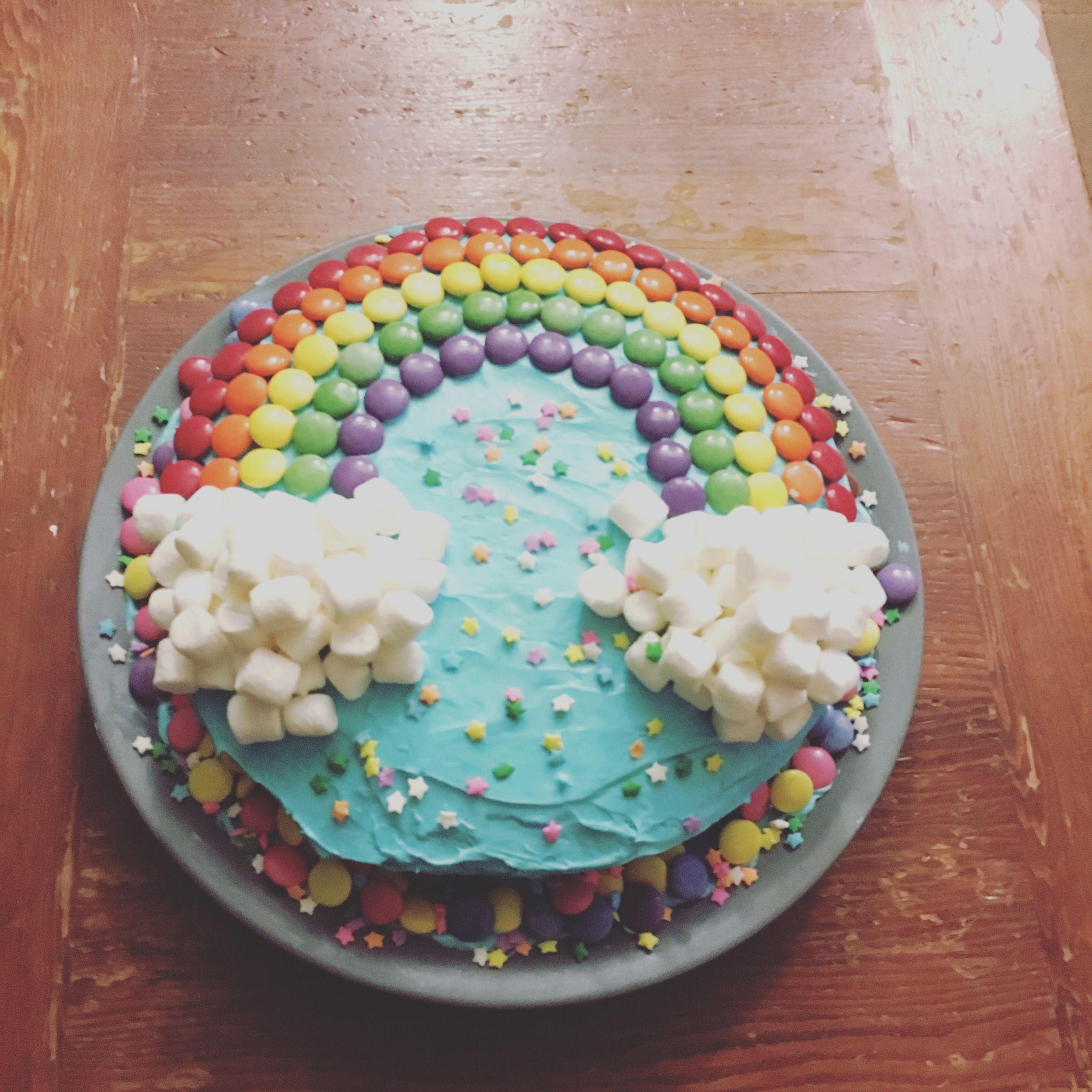 Rainbow Birthday Cake Easy To Make Rainbow Birthday Cake