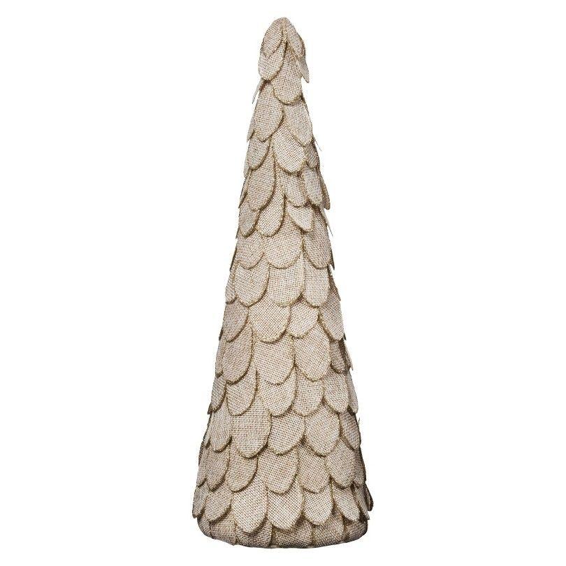 Threshold Scalloped Burlap Tree With Glitter Detail 15 Burlap Christmas Tree Burlap Christmas Christmas Tree Target