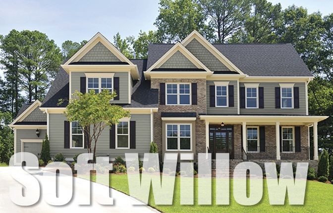 Fairfield Style Crest Soft Willow House Exterior Exterior House Colors House Paint Exterior