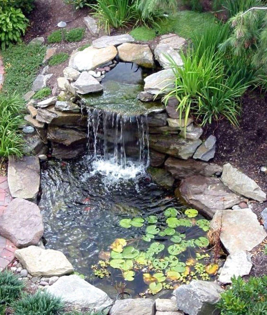 Small Backyard Ponds And Waterfalls