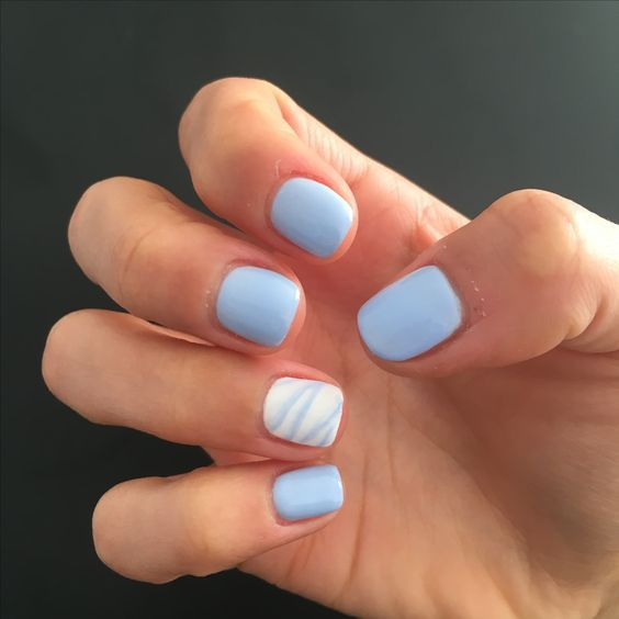 56 Must Try Trendy And Gorgeous Light Blue Sky Blue Nails Designs In Fall And Winter Nail Idea 35 Blue Gel Nails Blue Shellac Nails Shellac Nail Designs