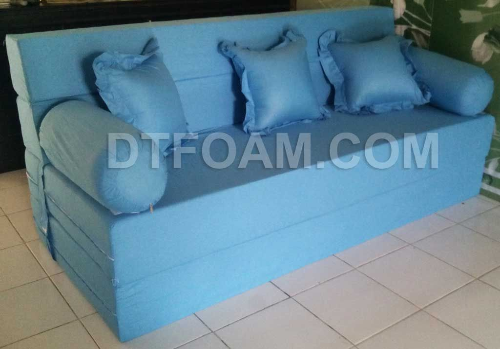 Sofa Bed Kasur Busa Lipat Inoac Jakarta Slimline Table P Biru Muda Pilihan B