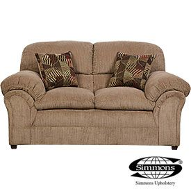Best Simmons® Champion Tan Loveseat With Pillows From Big Lots 400 x 300